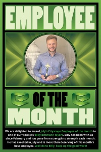 Employee-of-the-month Billy BBM July